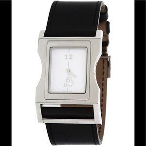 Christian DIOR CD033110 Black Leather Strap Watch